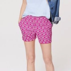 FUCHSIA & WHITE FLORAL DRESS CASUAL RIVIERA SHORTS